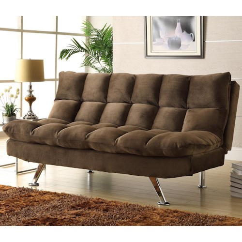 Homelegance Jazz Chocolate Microfiber Lounger with Tufting