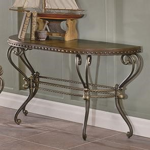 Homelegance Jenkins Traditional Scrolled Metal Sofa Table