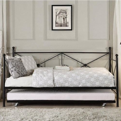 Homelegance Jones Metal Daybed with Trundle
