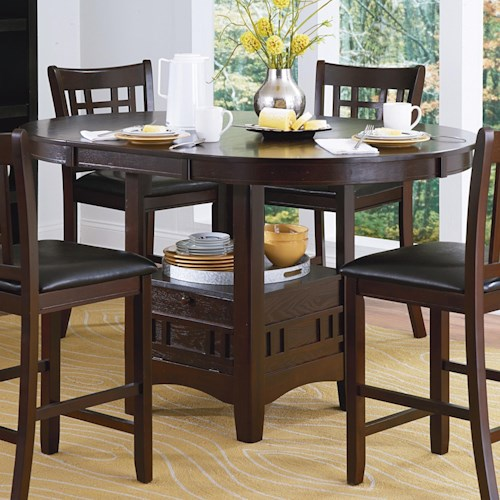 Homelegance junipero 2423 36 pub table northeast factory direct homelegance junipero mission oval pub table with drop panel door watchthetrailerfo