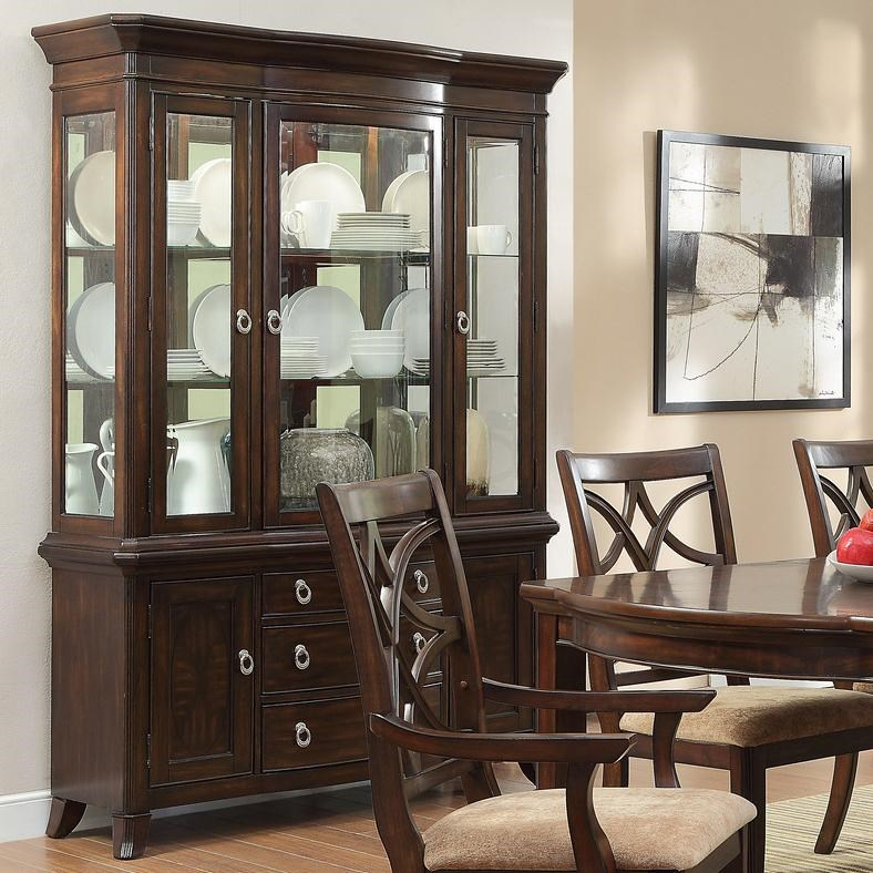 Homelegance Keegan China Cabinet with 3 Glass Doors - Value City ...