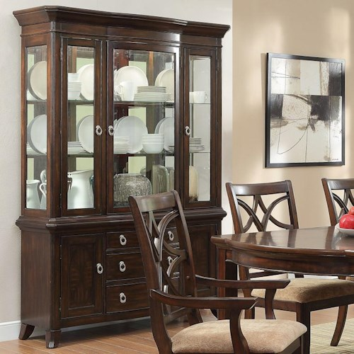 Homelegance Keegan China Cabinet with 3 Glass Doors