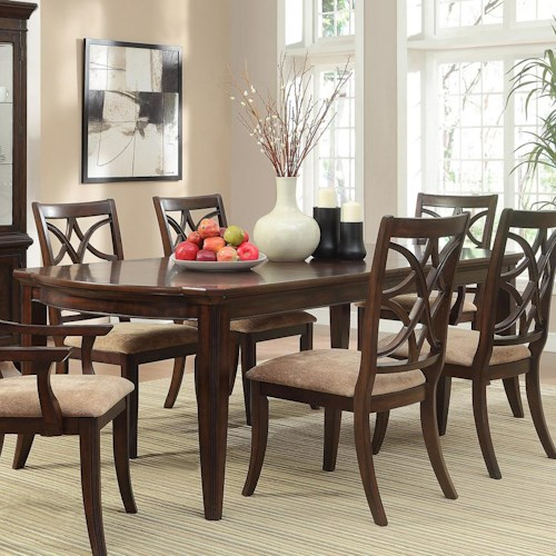 Homelegance Keegan Rectangular Dining Table with Tapered Legs