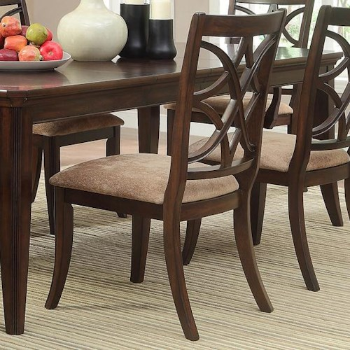 Homelegance Keegan Dining Side Chair with Overlapping Seat Back Design