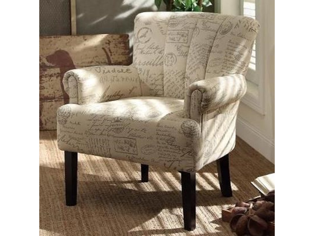 Homelegance langdale 1212f2s transitional accent chair with tufted fan back becks furniture upholstered chairs
