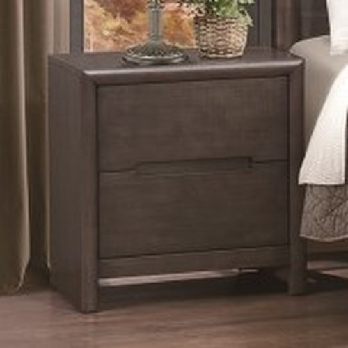 Homelegance Lavinia Contemporary 2-Drawer Nightstand with Dovetail Joinery