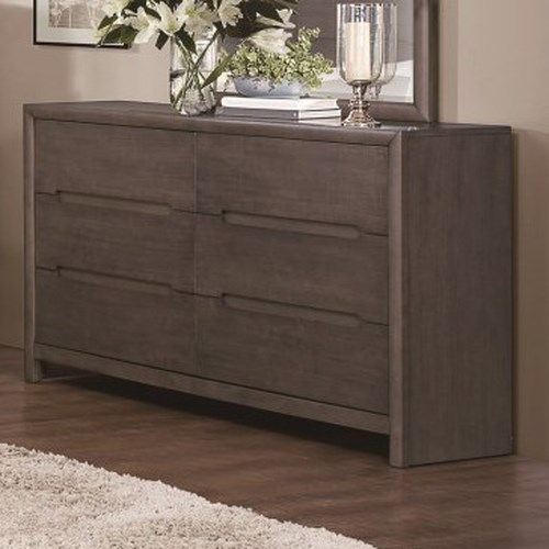 Homelegance Lavinia Contemporary 6-Drawer Dresser with Dovetail Joinery