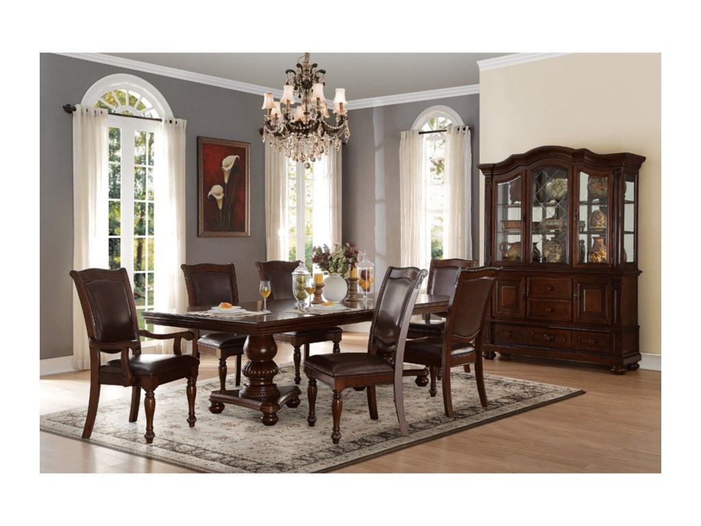 Homelegance LordsburgDouble Pedestal Dining Table