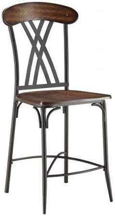 Homelegance Loyalton Transitional Counter Height Dining Side Chair with Open Back