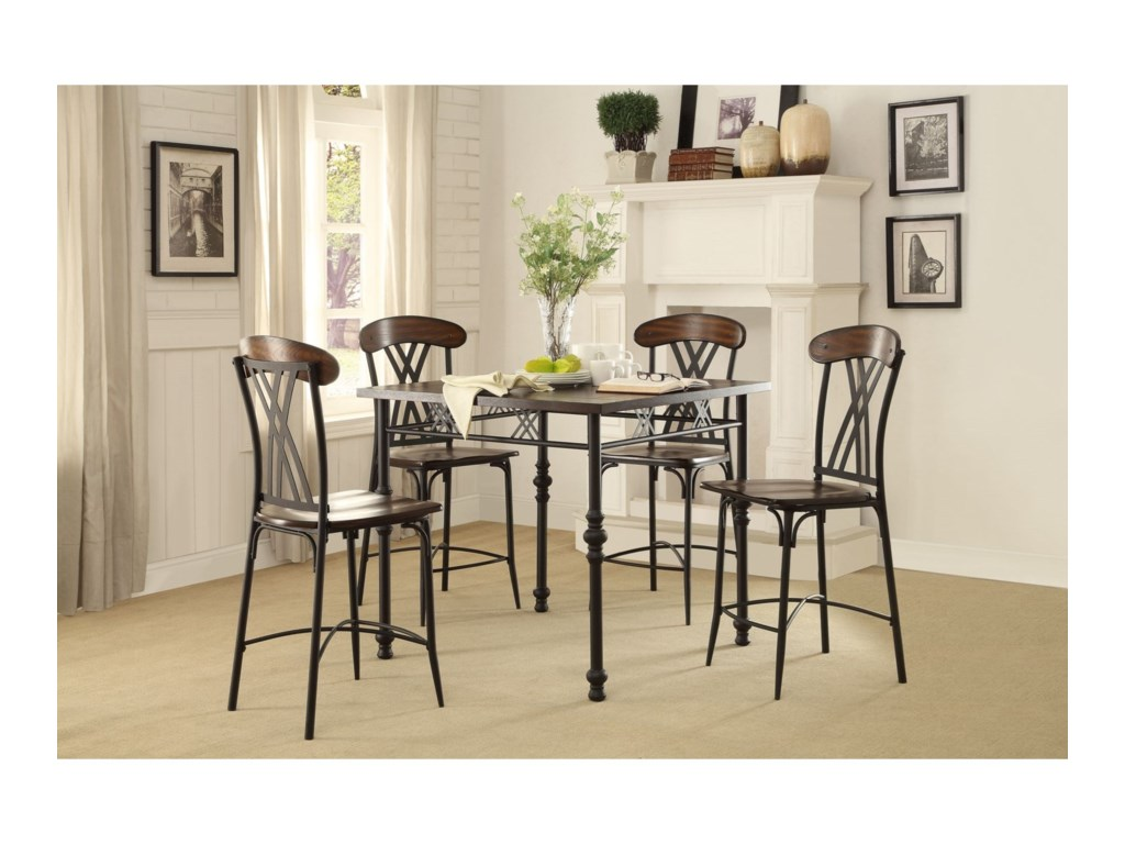 Homelegance LoyaltonCounter Height Table and Chair Set