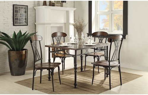 Homelegance Loyalton Transitional Kitchen Table and Chair Set
