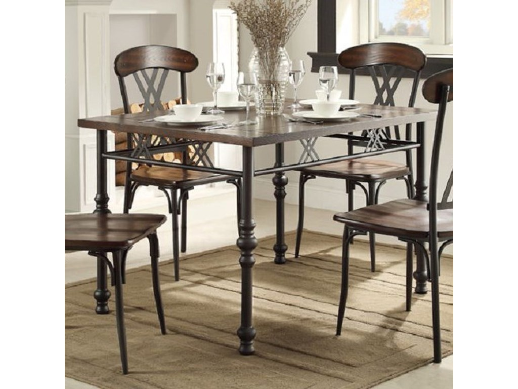 Homelegance Loyalton Transitional Kitchen Table with Turned Leg Look on havertys furniture kitchen sets, diamond furniture kitchen sets, value city furniture kitchen sets, macy's kitchen sets, regency furniture kitchen sets,