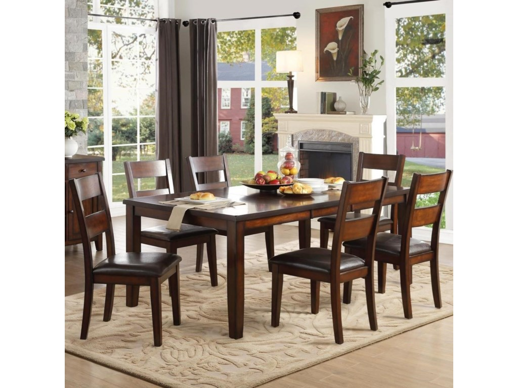 Homelegance MantelloSeven Piece Dining Set