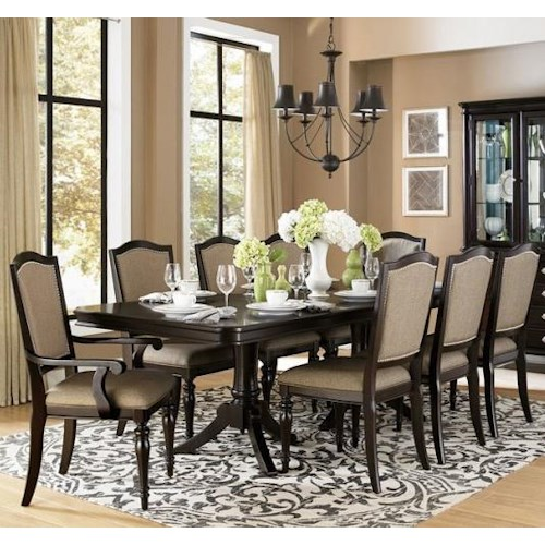 Homelegance Marston 9 Piece Dining Table and Chair Set - Wayside ...