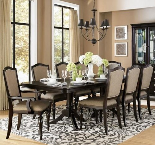 Homelegance Marston 9 Piece Dining Table And Chair Set Boulevard