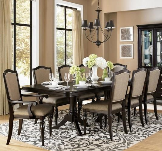 Homelegance Marston 9 Piece Dining Table And Chair Set   Becku0027s Furniture    Dining 7 (or More) Piece Sets