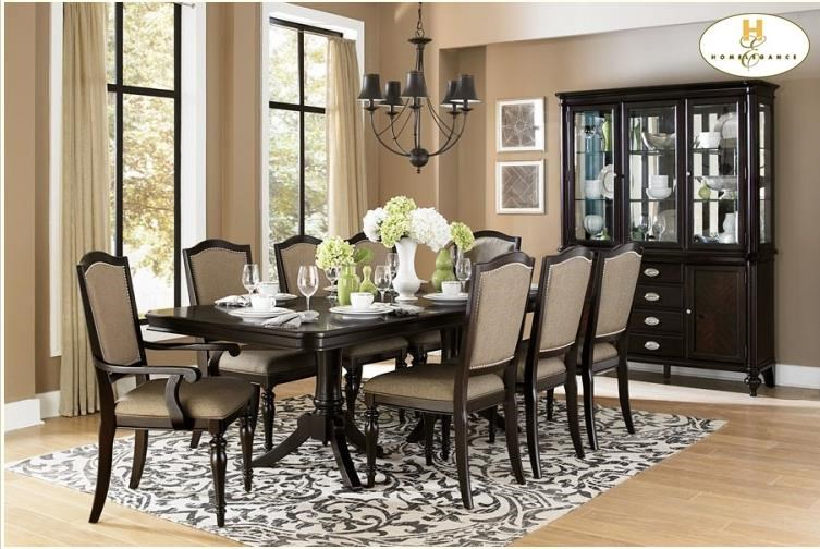 Homelegance MarstonDining Arm Chair w/ Upholstered Seat and Ba