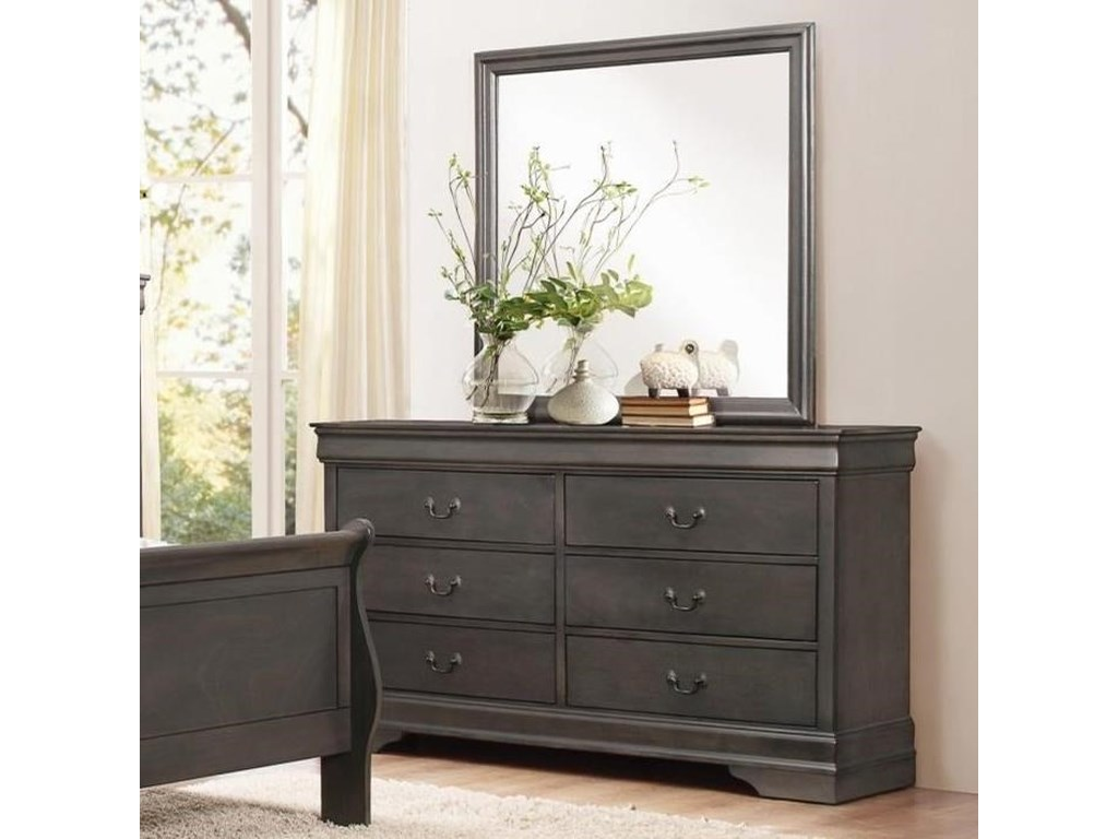 Homelegance MayvilleDresser and Mirror Set