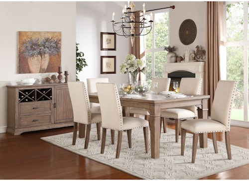 Homelegance Mill Valley Relaxed Vintage Dining Room Group