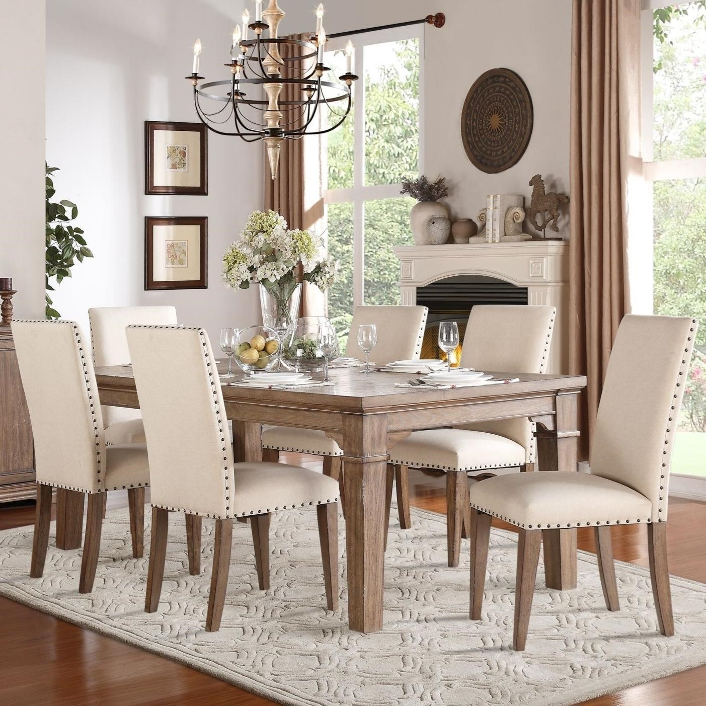 Mill Valley Relaxed Vintage Dining Table and Chair Set with Nailhead Trim on Chairs by Homelegance  sc 1 st  Becku0027s Furniture & Homelegance Mill Valley Relaxed Vintage Dining Table and Chair Set ...