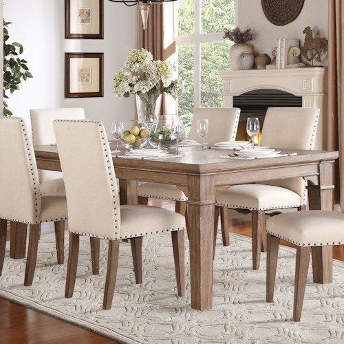 Homelegance Mill Valley Relaxed Vintage Dining Table With Weathered Look Beck 39 S Furniture