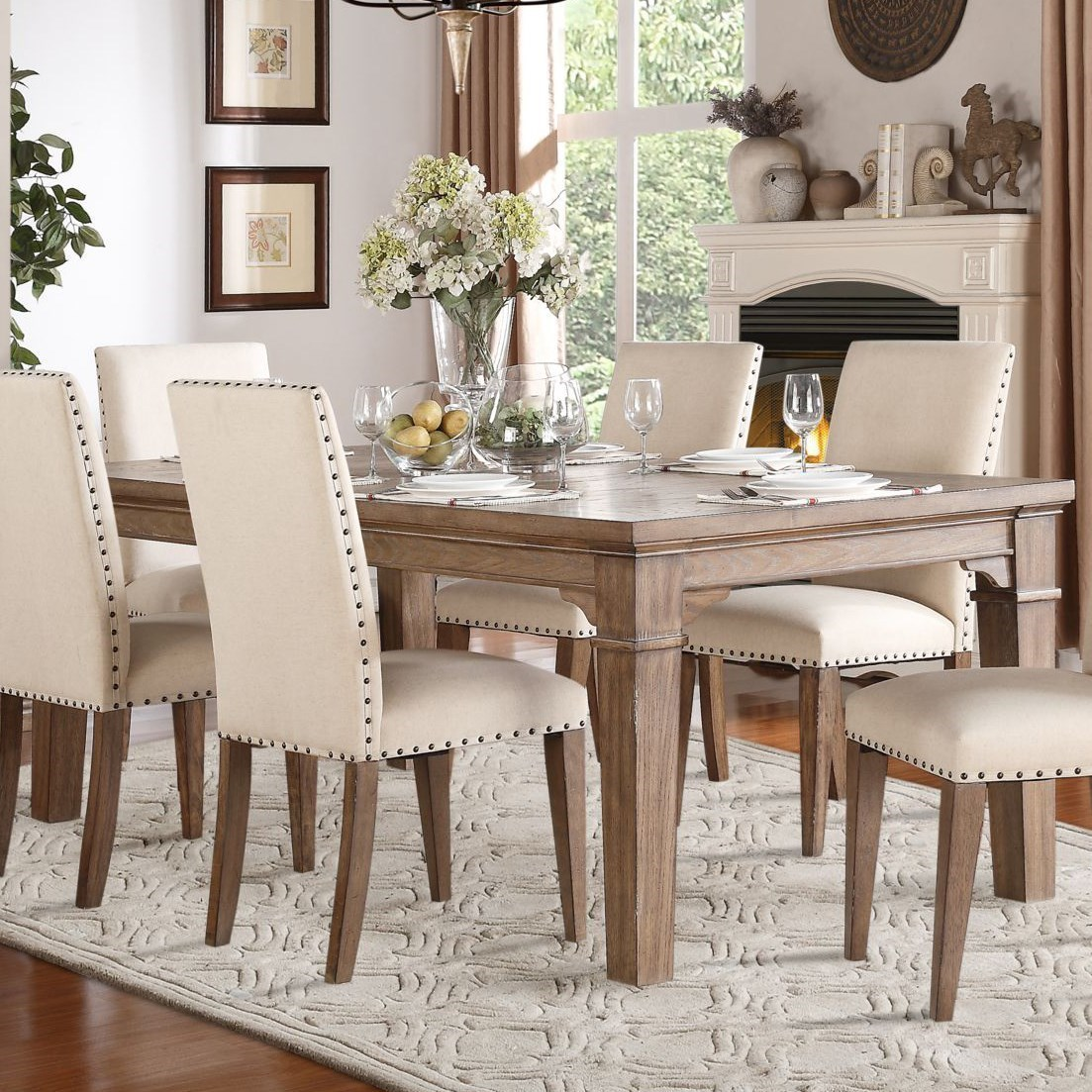 84 dining table glass top homelegance mill valley relaxed vintage dining table with weathered look 510884 northeast factory