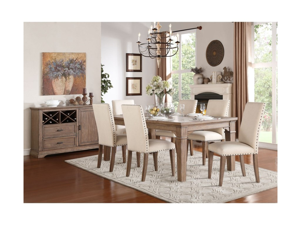 Homelegance Mill ValleyUpholstered Dining Side Chair
