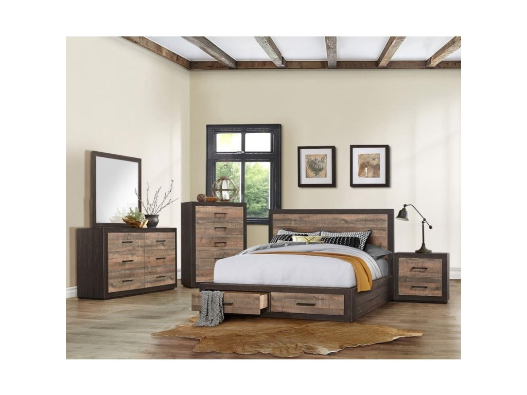 Homelegance MiterCalifornia King Bedroom Group