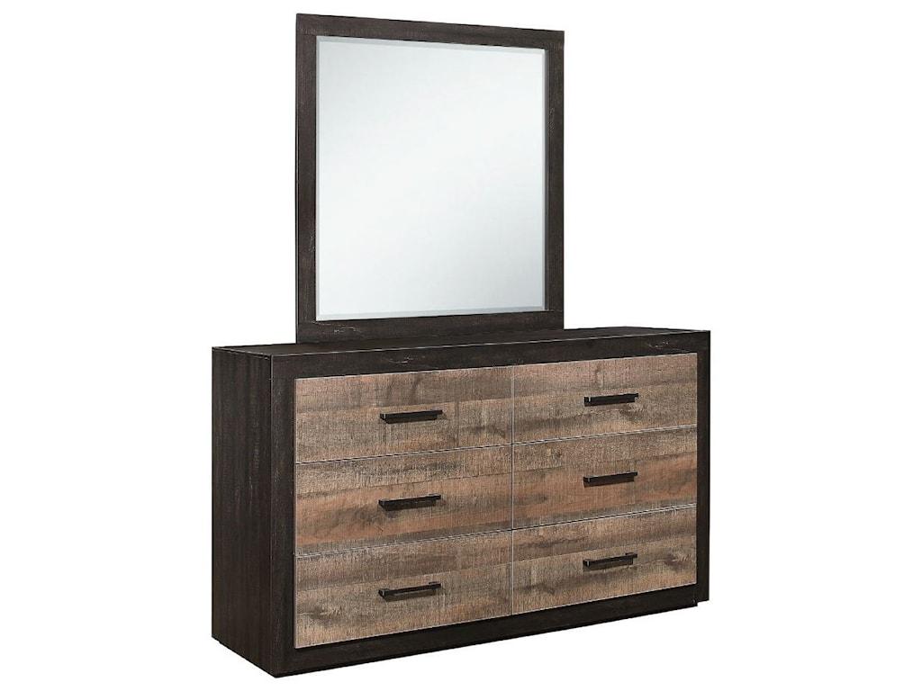 Homelegance MiterDresser and Mirror Set