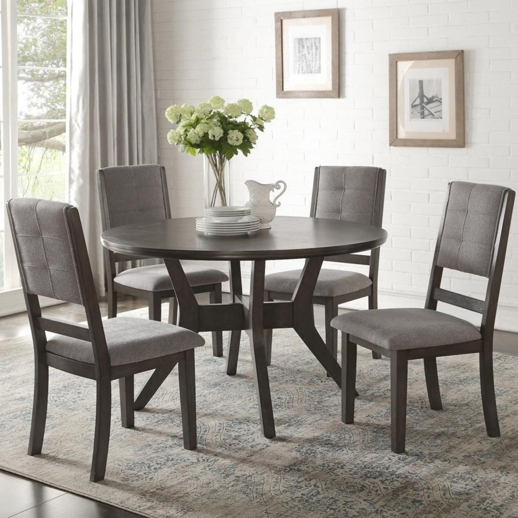 Homelegance Nisky Transitional Five Piece Chair And Table Set