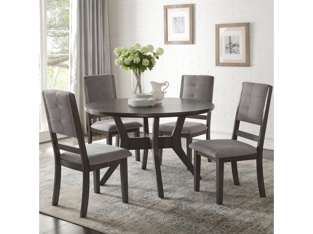 Nisky transitional five piece chair and table set by homelegance