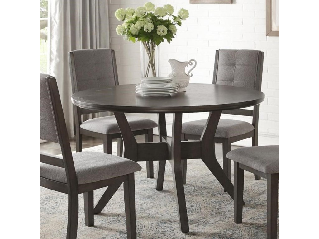Homelegance Nisky Transitional Round Dining Table | Value ...