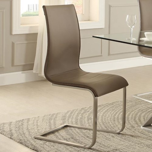 Homelegance Odeon Continuous Frame Side Chair with Metal Base