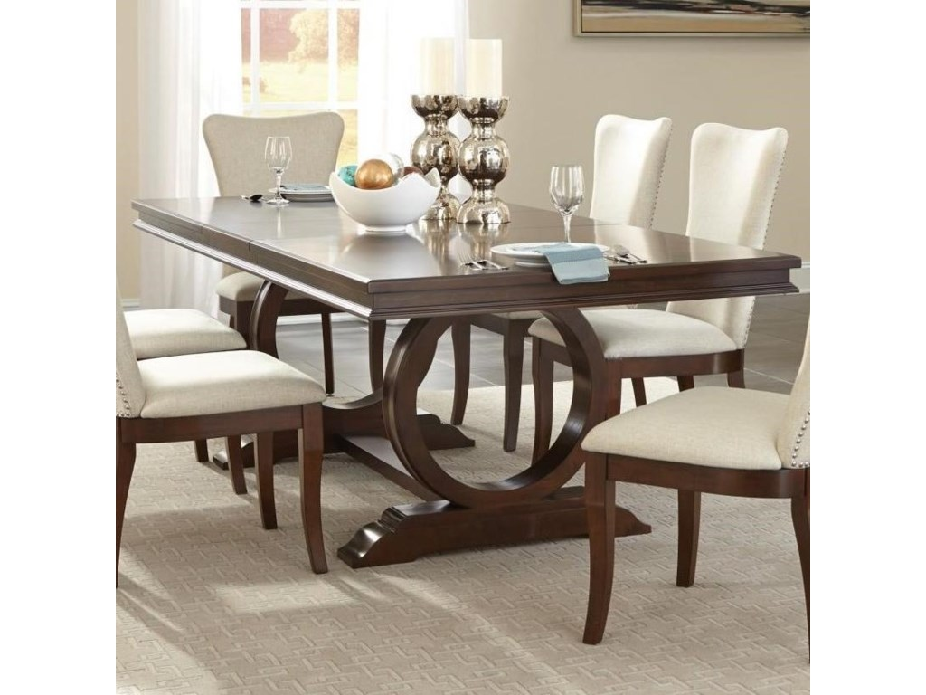 Homelegance Oratorio Transitional Dining Table With Pedestal