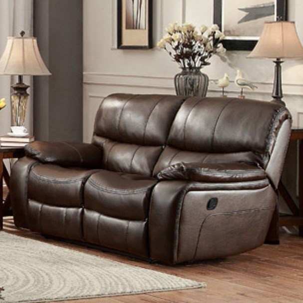 Homelegance PecosCasual Reclining Loveseat