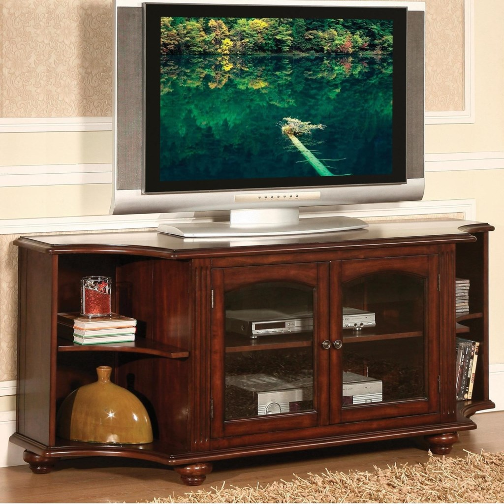 Homelegance Piedmont Traditional 62 Tv Stand With Glass Doors