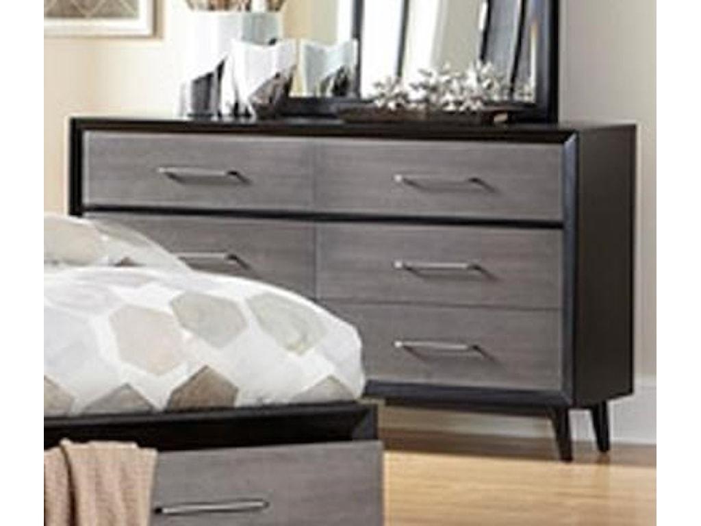 Homelegance Raku 1711-5 Contemporary Dresser with 6-Drawers ...
