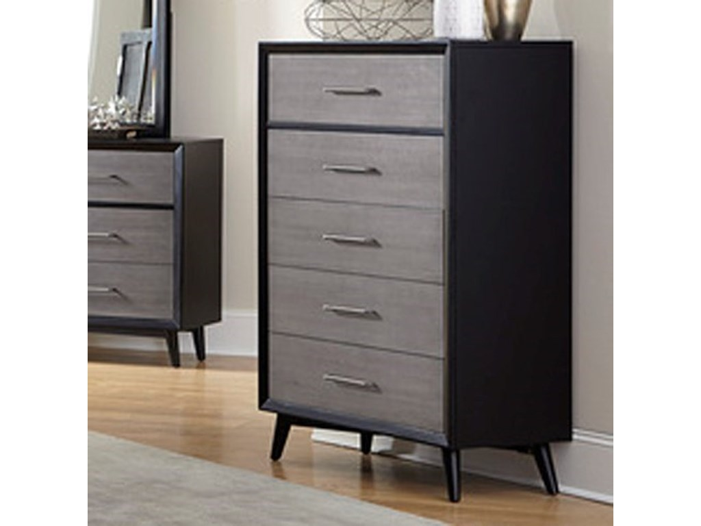Raku Contemporary Chest Of Drawers With 5 By Homelegance At Dream Home Interiors