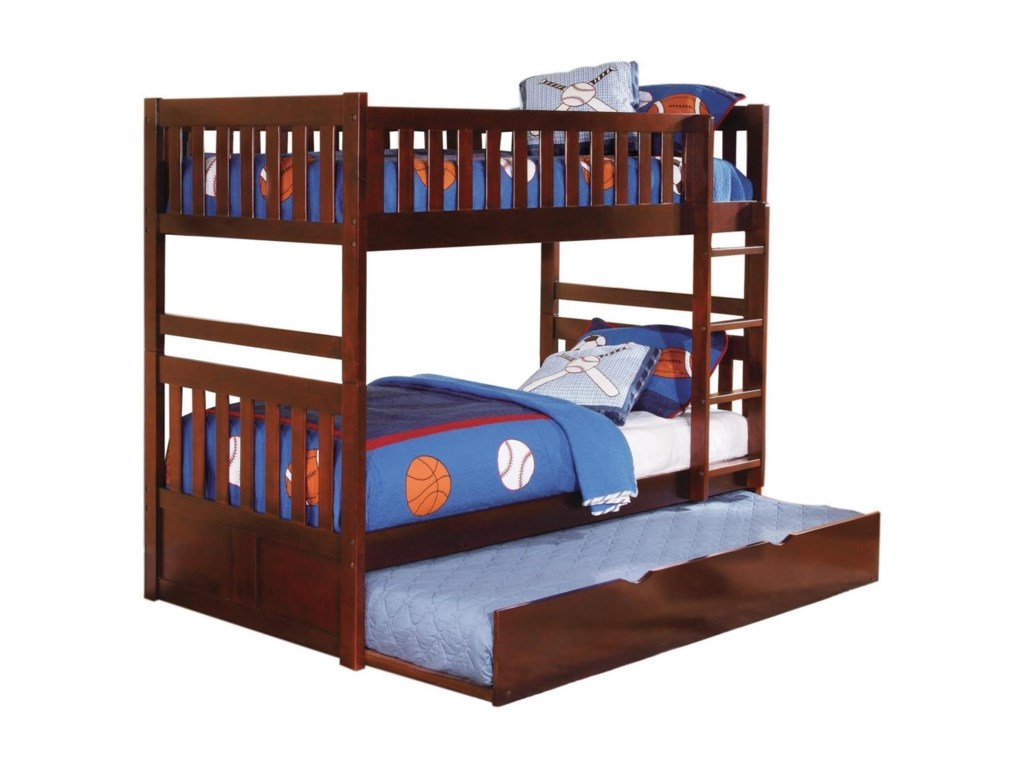 Homelegance RoweTwin Over Twin Bunk Bed with Trundle