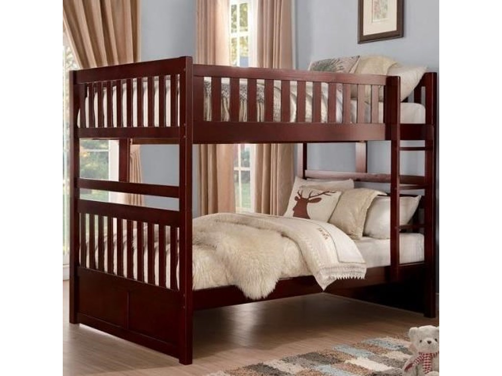Homelegance RoweFull Over Full Bunk Bed with Slats
