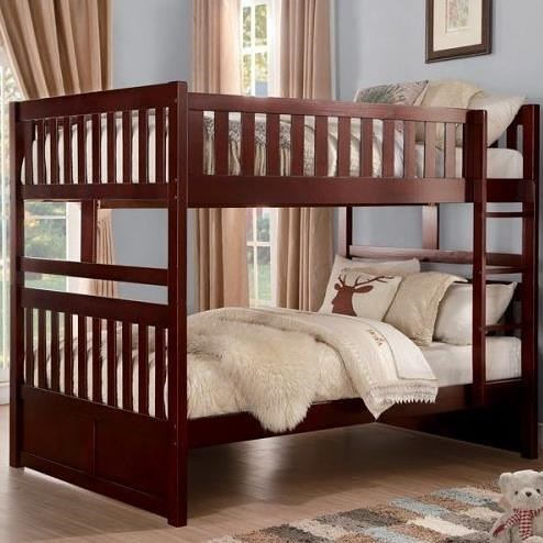 Homelegance Rowe Full Over Full Bunk Bed With Slats A1 Furniture