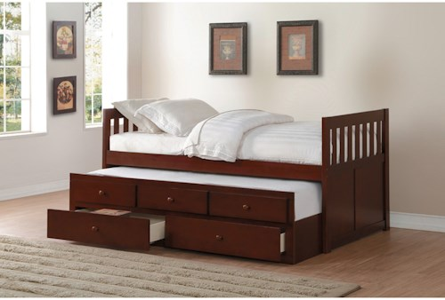 Homelegance Rowe Twin Captain's Bed