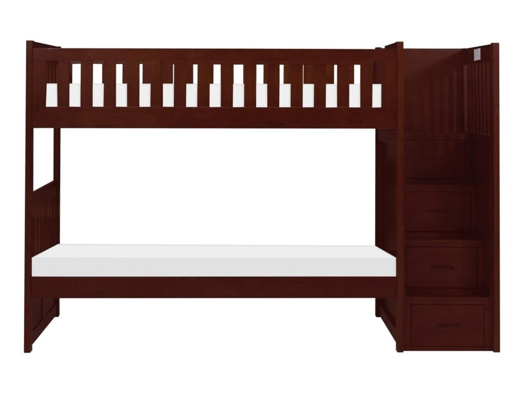 Homelegance RoweTwin Over Twin Bunk Bed