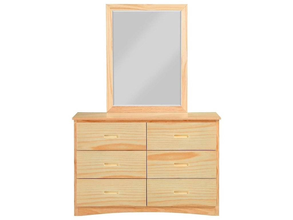 Homelegance BartlyDresser and Mirror Set