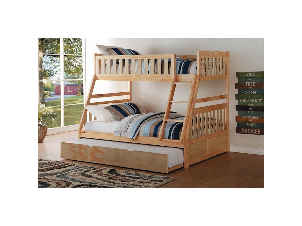Homelegance BartlyTwin Over Full Bunk Bed