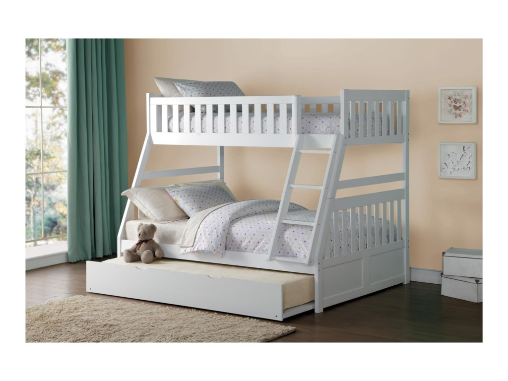 Homelegance GalenTwin Over Full Bunk Bed