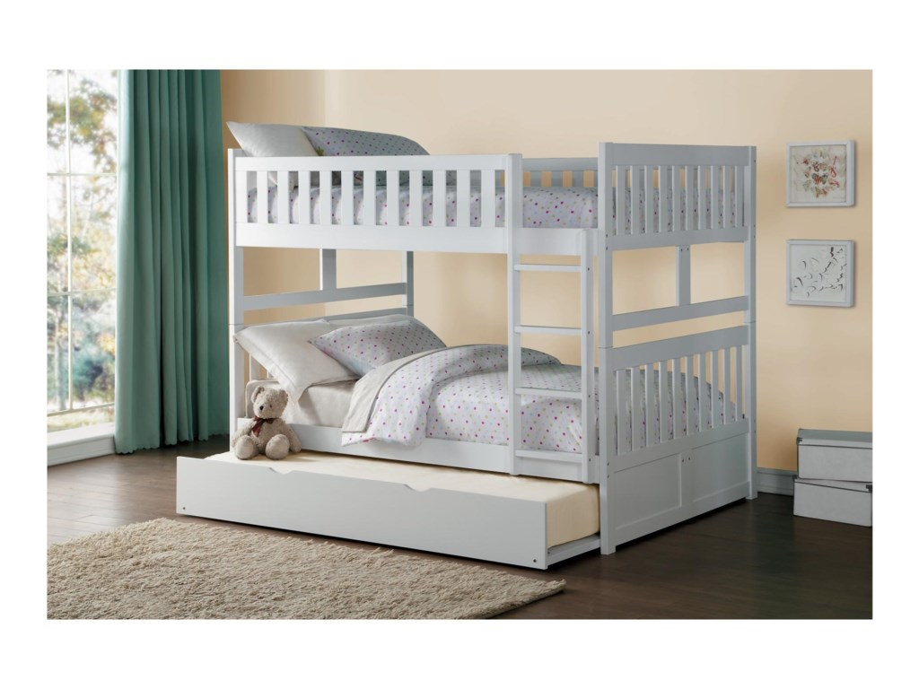 Homelegance GalenFull Over Full Bunk Bed with Trundle Unit