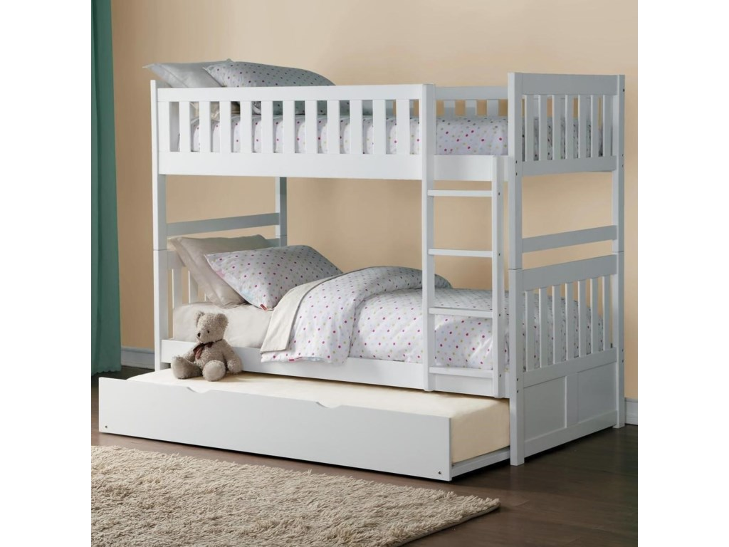 Homelegance GalenTwin Over Twin Bunk Bed with Trundle