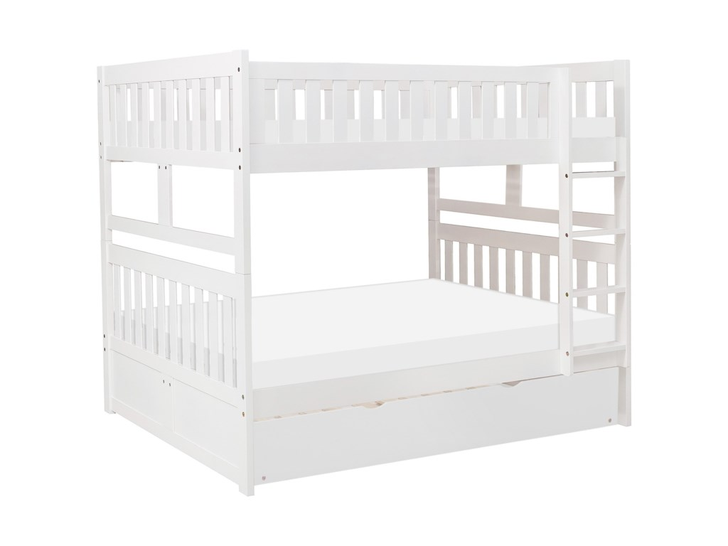 Homelegance GalenTwin Over Twin Trundle Bunk Bed