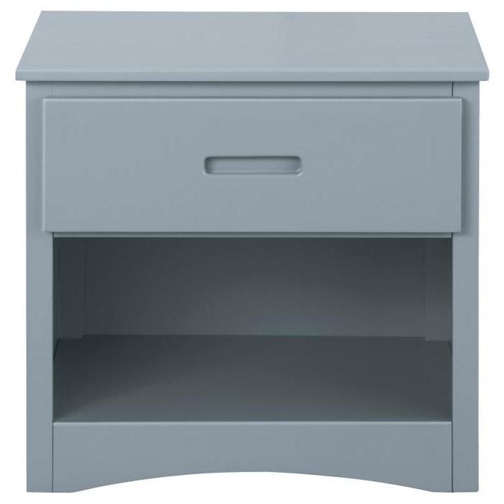 Casual Nightstand with Shelf